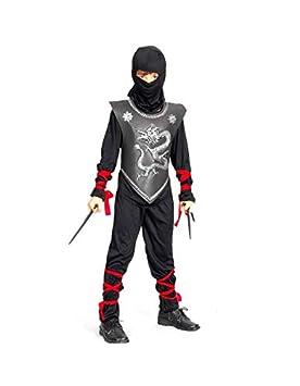 JAC - Disfraz Ninja Coraza Negro - 92787174: Amazon.es ...