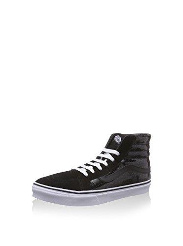 Vans Patent Galax Sk8-hi Smala Mens Skateboard-skor Svart / Sann Vit