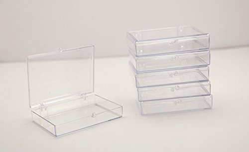 (Clear Hinged Plastic Trading Card Storage Box 3 1/2