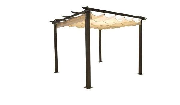 Carpa de 3 x 3 metros, postes de aluminio, veranda, pérgola ...