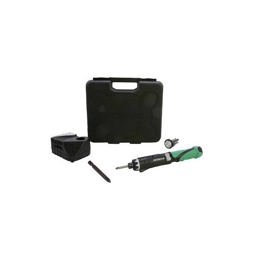 Hitachi DB3DL2 Power Cordless Screwdriver Kit, 3.6V 1.5Ah Lithium Ion Battery - 2, Dual Position, LED Light, Lifetime Tool Warranty (Discontinued by the Manufacturer) ()