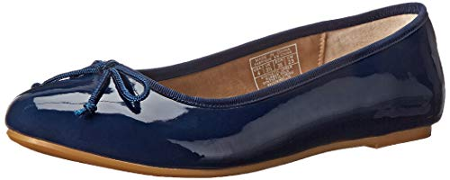 Polo Ralph Lauren Kids Nellie Ballet Flat (Toddler/Little Kid/Big Kid), Navy Patent, 6 M US Big Kid