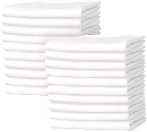 Nabob Wipers New Premium White T-Shirt Knit Rags, 100% Cotton, Cloth Rags, Excellent for General Cleaning, Spills,Home,Staining,Polishing, Bar Mop and More (1/2 Lb Bag)