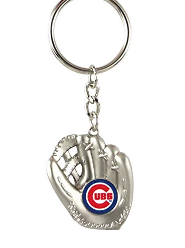 - aminco Chicago Cubs - MLB Silver Baseball Glove Keychain
