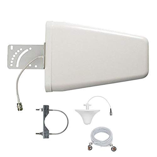Mountanya 12 dbi Directional Cellular Periodic Antenna LPDA with Omni Antenna 698-2700 MHz and 20 Mtr. Cable for 2G 3G 4G 5G Wide Band