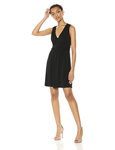 - Wild Meadow Women's Jersey Goddess Dress 1X Black