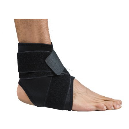 My Pro Supports Ankle Foot Support Neoprene Elastic Adjustable Pain Injury Relief  Small   Medium  Black