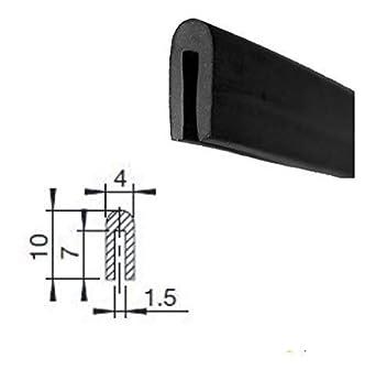 50 m EUTRAS Fassungsprofil FP3001 1,5mm Kantenschutz Gummiprofil Keder Kantengummi