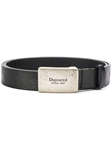 (Dsquared2 Men's Bem0203129000012124 Black Leather Belt)