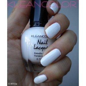 Amazon.com : Kleancolor Nail Lacquer White 4 : Nail Polish : Beauty