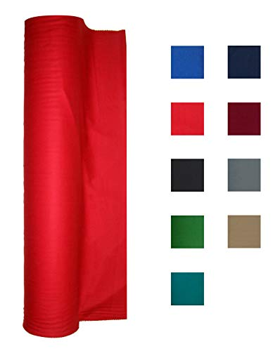 Performance Grade Pool Table Felt - Billiard Cloth - for an 8 Foot Table Red