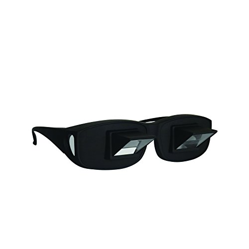 Evelots Prism Glasses Horizontal Lazy Spectacles, Read/Watch TV Lying Down