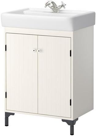 Ikea Silveran Hamnviken Wash Armadietto A 2 Ante Per Lavabo Colore Bianco 60 X 45 X 91 Cm Amazon It Casa E Cucina