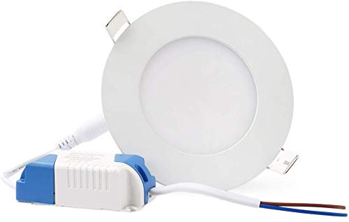 LVJING LED Recessed Light Dimmable, 15W Round Ultra-Thin Ceiling Light,