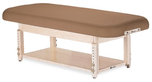 "EARTHLITE Sedona Stationary Massage Table Flat/Shelf - Solid Hard Maple, 2 Bases, 3 Tops, 6 Colors, (28-32"" wide), Height Adjustable (24-33"")"