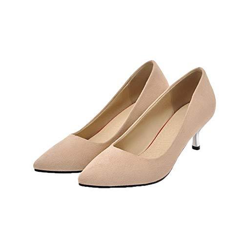 Albicocca Plastica Flats Ballet Donna Medio AllhqFashion Tacco FBUIDD006499 Puro Tirare 7nSwxqTz
