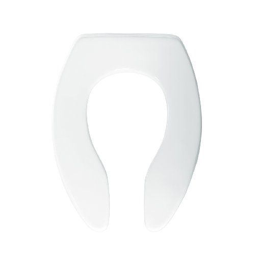 Hot Bemis 1655SSCT000 Elongated Toilet Seat Open Front Less Cover with Self Sustaining Check Hinge, White for cheap