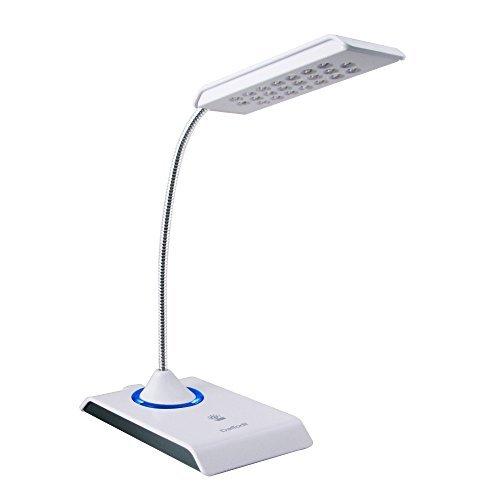Daffodil LEC200 USB LED Lampe - USB Schreibtischlampe / Tastaturlampe / Leselicht / Leselampe - mit 22 superhellen LEDs - PC sowie MAC kompatibel - eingebauter Akku - keine Batterien notwendig (Weiß)