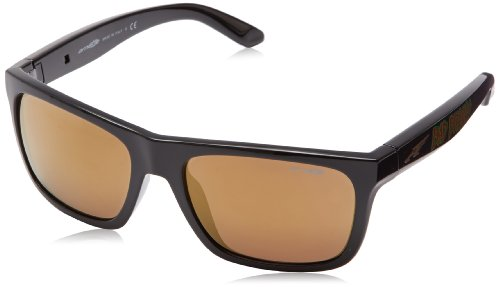 Arnette Dropout Round Sunglasses,Bad Brains/Gold Mirror,55 mm