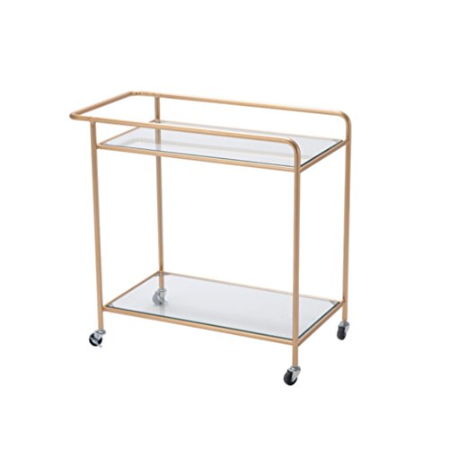 - GLJ Nordic Living Room Small Tea Table Removable Danish Cart Wheeled Small Coffee Table Wrought Iron Corner A Few Modern Simple Side Folding table (Color : Gold)