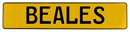 Vintage Parts 594840 Beales Yellow Stamped Aluminum Street Sign Mancave