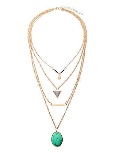 Persun Pendant Multi Row Layered Necklace