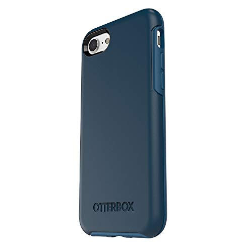 OtterBox Symmetry Series Case for Apple iPhone 8 & iPhone 7 (Not Plus) (Certified Refurbished) Bespoke Way (Blazer Blue/Stormy Seas Blue)