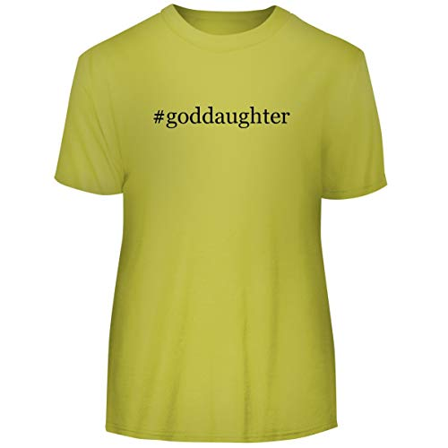One Legging it Around #Goddaughter - Hashtag Men's Funny Soft Adult Tee T-Shirt, Yellow, XXX-Large ()