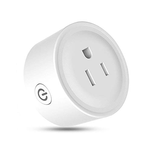 Smart plug Mini Wifi Outlet Compatible with Amazon Alexa, Google Home & IFTTT, No Hub Required,Overload Protection,Control Your Devices Anytime Anywhere | White
