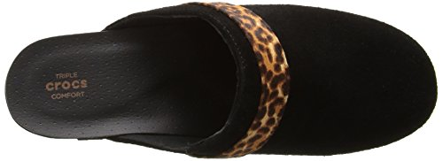 Suede Leopard Clog Femmes Sarah Crocs Eur black 41 Mule 5A0fAwRx