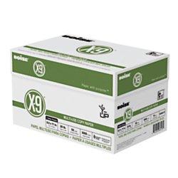 Boise OX9001P X-9 Copy 3-Hole Punched Paper, 92 Brightness, 20lb, Letter (8 ½ x 11), White, 5000/Carton