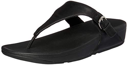 Leather Sandals Thong Skinny 001 Black Toe Heels Fitflop Women Black PnxHqTRI