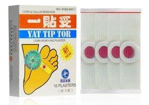 Yat Tip Tor Corn & Callus Removing Plaster - 10 Plasters/box, (Pack of 3) ()