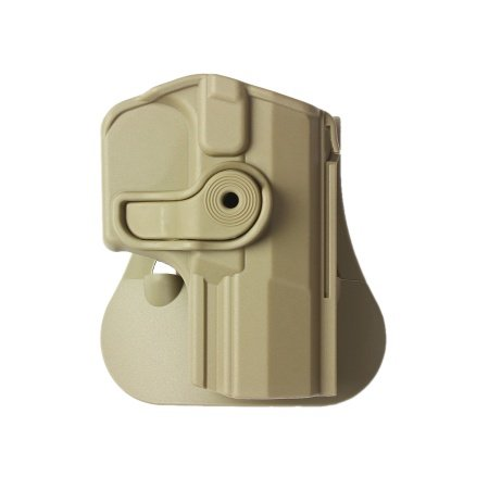 IMI Defense Z1420 Tactical verstellbar drehbar drehung Pistole holster für Walther M1 (PPQ Classic 9/.40), M2, Navy SD, P99Q verdeckte Trage POLYMER Taktik ROTO Pistolenhalfter
