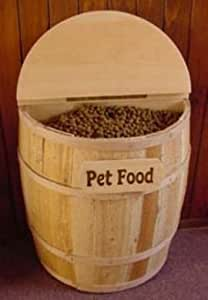 Half Barrel Dog Food Container