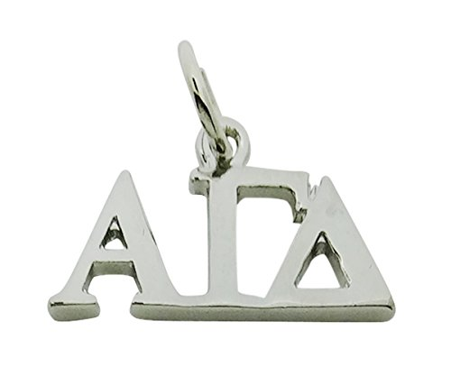ma Delta Greek Sorority Lavalier Drop Charm Pendant, High Polish Finished ()