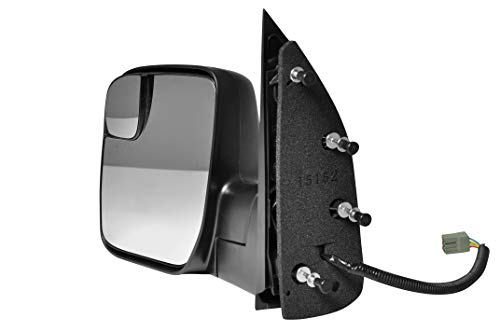 (Driver Side Textured Side View Mirror for 2010-2014 Ford Van E-150 E-250 E-350 E-450 Super Duty)