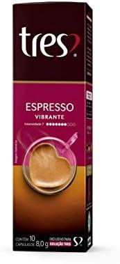 Cápsula de Café Espresso, Vibrante, 10 Unidades, Tres, 3 Corações