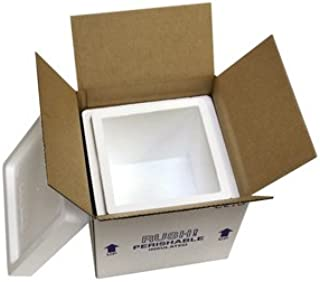 "product image for Octo Foam Insulated Carton with Foam Shipper, 8 Quarts, 8"" x 8"" x 8"", 1.5"" Wall Thickness - (Case of 4)"