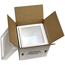 """Octo Foam Insulated Carton with Foam Shipper, 8 Quarts, 8"""" x 8"""" x 8"""", 1.5"""" Wall Thickness - (Case of 8)"""