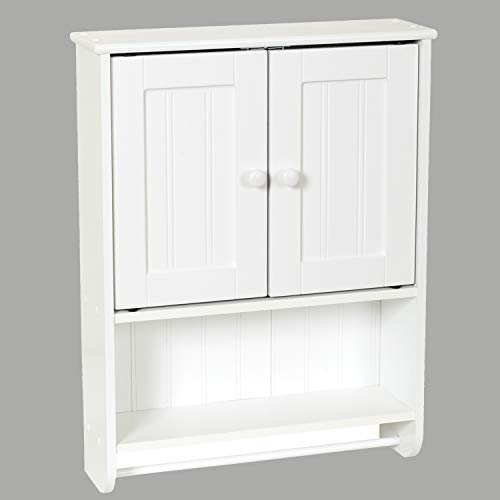 Zenna Home Cottage Collection Wall Cabinet, White