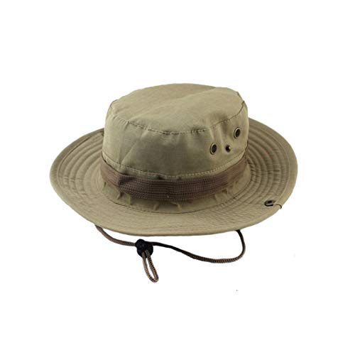 (Unisex Bucket Sun Hats Outdoor Jungle Military Camouflage Bob Camo Bonnie Hat Fishing Camping Barbecue Cotton Cap)