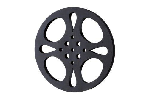 Deco 79 Metal Movie Reel, Black/Gray ()