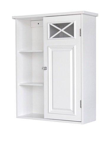 Elegant Home Fashions Dawson 1-Door Wall Cabinet in White by Elegant Home (Dawson Wall Cabinet)