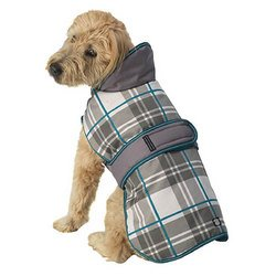 Pet Rageous 438APXXL Kodiak Coat, XX-Large, Gray/Aqua Plaid by PetRageous