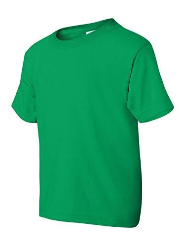 Gildan boys Heavy Cotton T-Shirt(G500B)-IRISH GREEN-XS