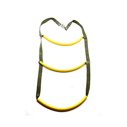 Flyastar Inflatable Boat Rib 3 Step Boarding Ladder Wakeboard Yacht Equipment fit Kayak Motorboat Canoeing (Yellow)