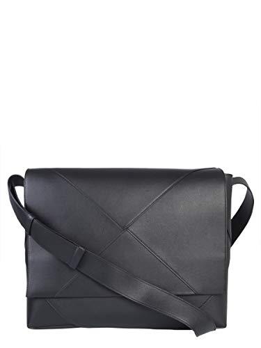 Bottega Veneta Men's 578352Vbiu01000 Black Leather Shoulder Bag Bottega Veneta Black Bag