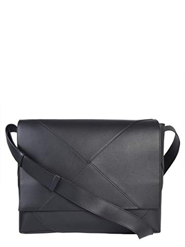 Bottega Veneta Men's 578352Vbiu01000 Black Leather Shoulder Bag