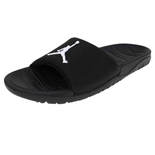 Jordan AR6374-001: Men's Black/White Break Shower Slides (8 D(M) US Men)